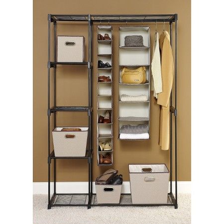Ordinaire Nursery Has No Closet    This Works Great Whitmor Double Rod Freestanding  Closet   Black