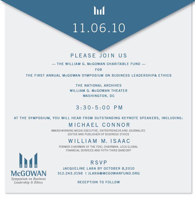 Sample Business Luncheon Invitation Michael Connor To
