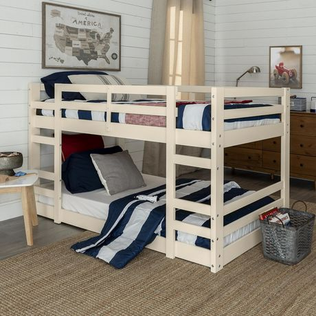 Manor Park Low Wood Twin Bunk Bed White White Twin Bunk Beds White Bunk Beds Diy Bunk Bed