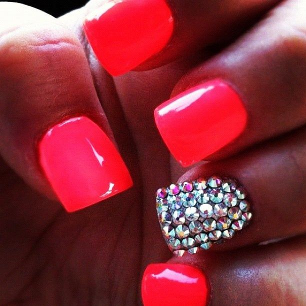 coral nails art design photo picture image 3 http://www ...