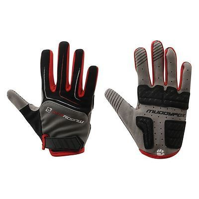 men and women sports cycling gloves touchscreen Red colour with gel padded grips