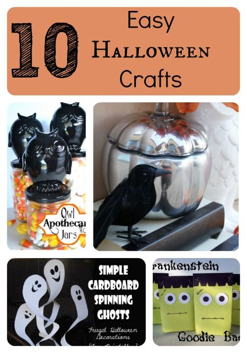 10 Easy Halloween Crafts Easy halloween, Scary and Easy - easy homemade halloween decorations for kids