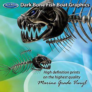 set of 300mm Boat Graphics Dark Bone Fish Graphics