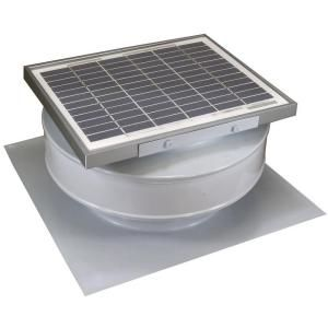 Active Ventilation 365 Cfm White Powder Coated 5 Watt Solar Powered Roof Mounted Exhaust Attic Fan Rbsf 8 Wt Attic Fan Solar Power Solar Attic Fan