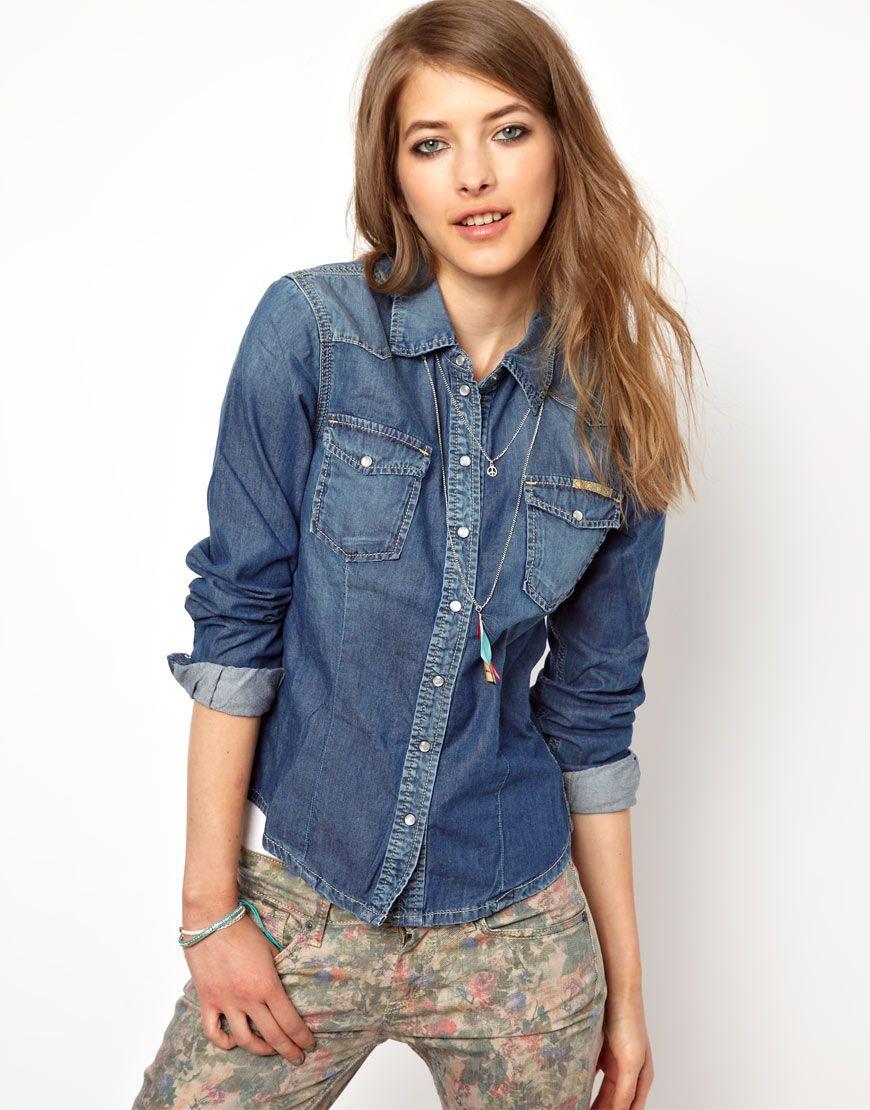 61f578433e6 Asos Pepe Jeans London Denim Shirt in Blue (Denim) | Lyst | Dress ...