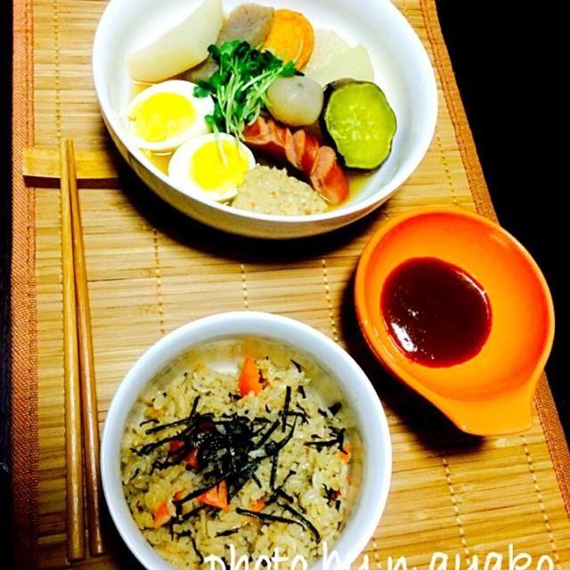 栄養たっぷり☆変わり種おでん定食 - 41件のもぐもぐ - 健康おでん定食 by ayakonakagor3