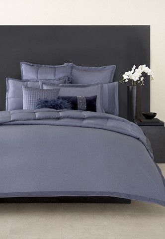 Donna Karan Modern Classics Sapphire Night Blue Queen Flat Sheet - Donna-karans-modern-classics-bedding-collection