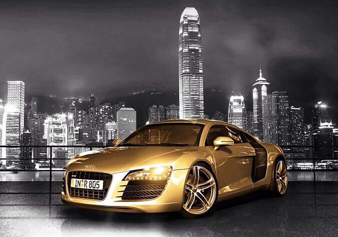 Gold Car With Images Cool Car Accessories Super Cars Car
