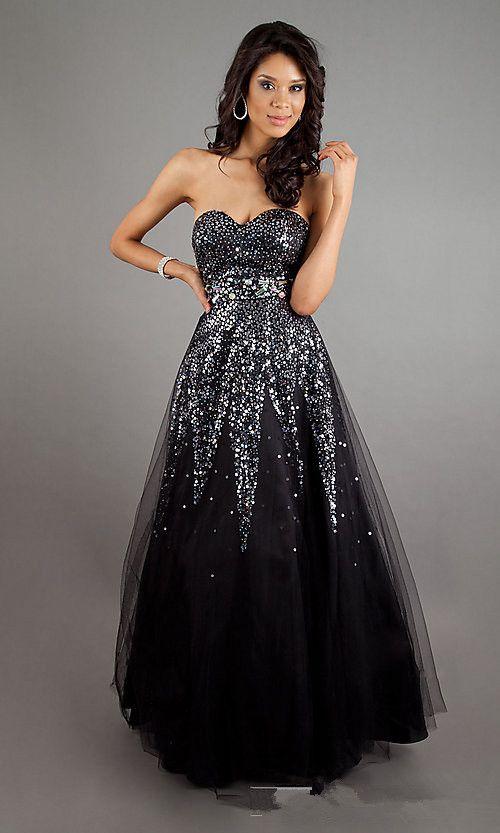 1dd5bea395a black prom dresses - Google Search