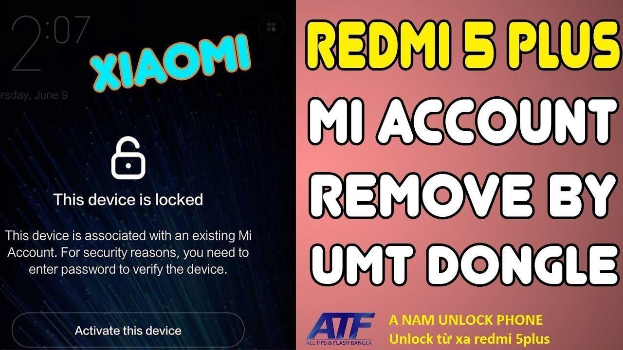 Xiaomi Redmi 5 Plus Unlock account Micloud | Bypass FRP