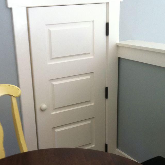 Attic Door Made To Look Like An Actual Door But Mini