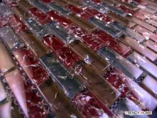 Sample Natural Stone Blue Glass Mosaic Tile Kitchen Backsplash