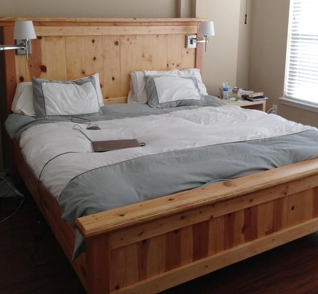 California king bed frame plans Jun 17 2014 Yes you can build a