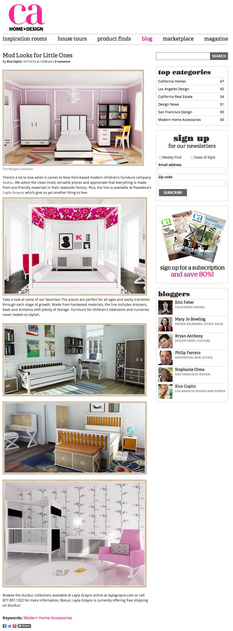 Mod Looks for Little Ones View article on CA Home + Design | {LG ...