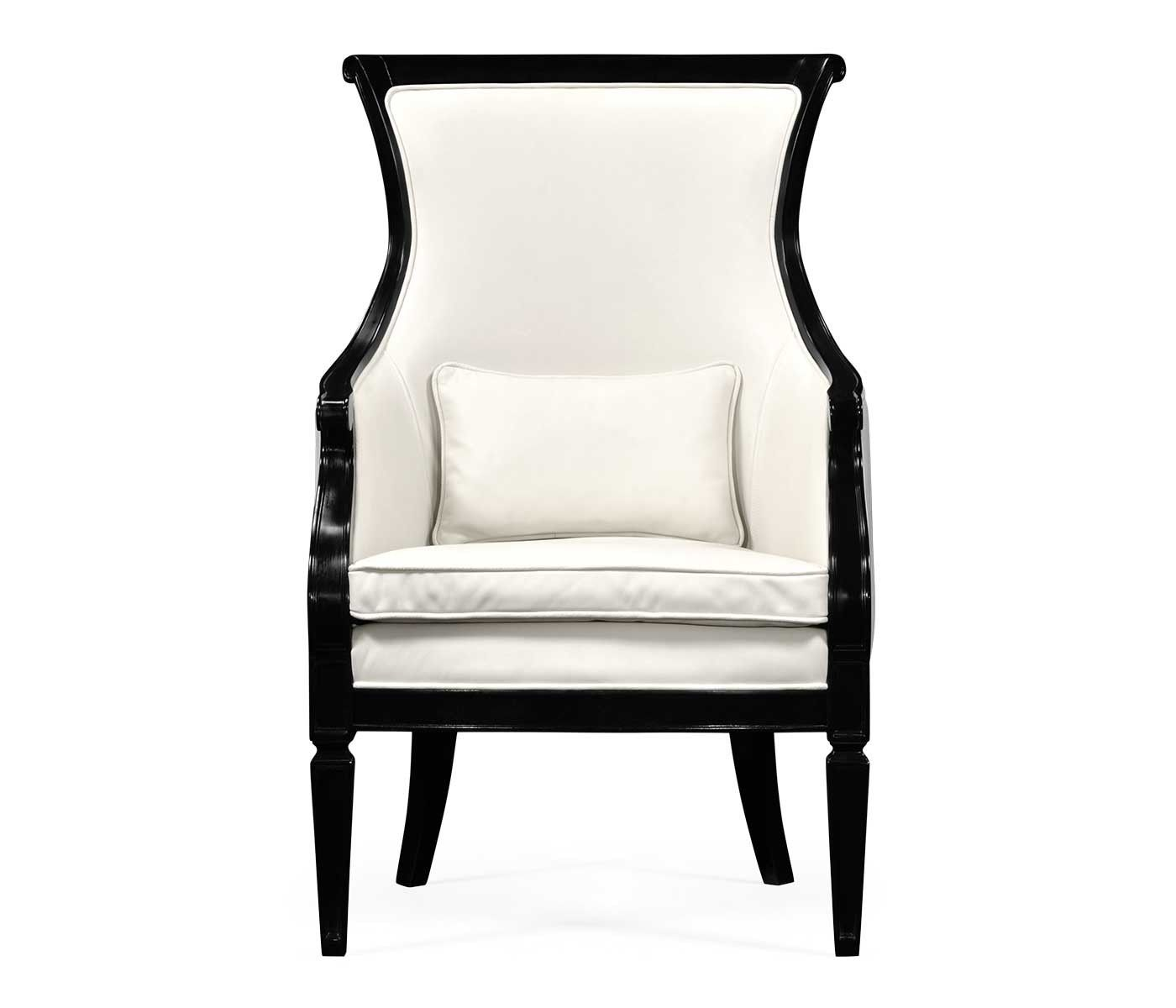 Black And White Upholstered Chair Stuhlede Com Stuhl Design Stuhl Polstern Design Ideen