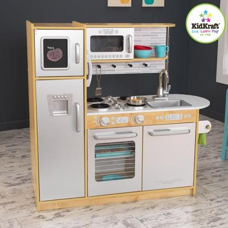 KidKraft Uptown Natural Wooden Play Kitchen