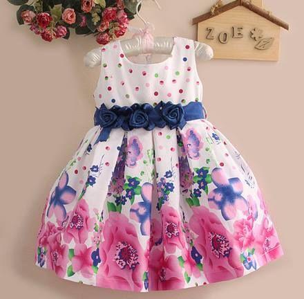99edcf9156 Vestido infantil em algodão Floral. Frete Gratis — Maribel Importados