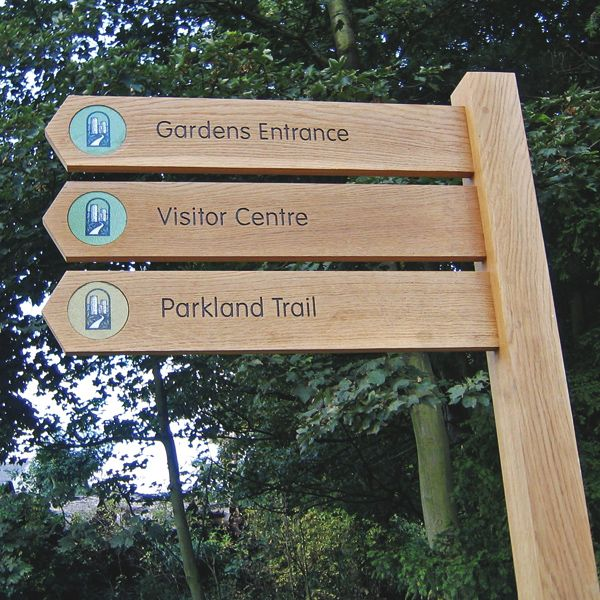 Standard Rustic Oak Fingerpost Wayfinding Signage Signage Wayfinding