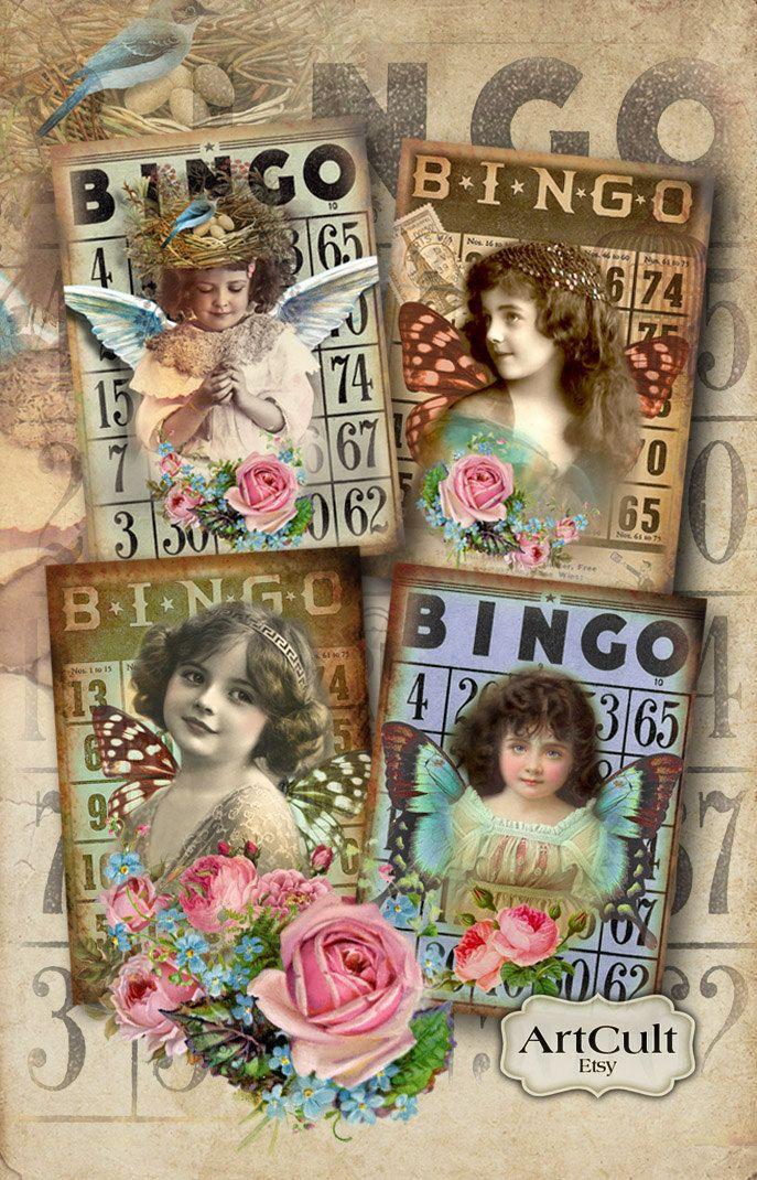 BINGO DREAM - 2.5x3.5 imprimible pulgadas Tamaño regalo Digital de etiquetas Collage Vintage de hoja articles scrapbook arte tarjetas ACEO arte culto de ArtCult en Etsy https://www.etsy.com/es/listing/75617094/bingo-dream-25x35-imprimible-pulgadas