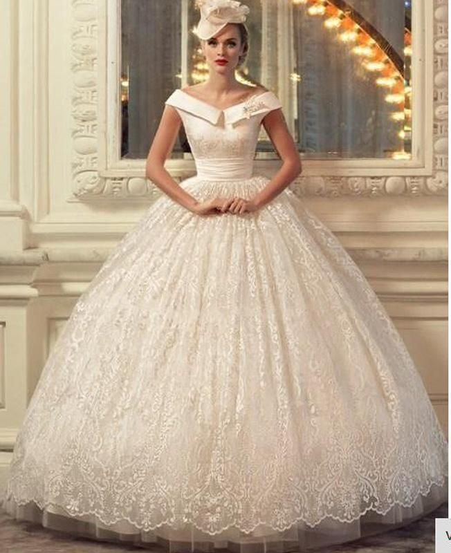 Empire Ball Gown Wedding Dresses: Elegant Empire Waist Princess Ball Gown Wedding Dresses