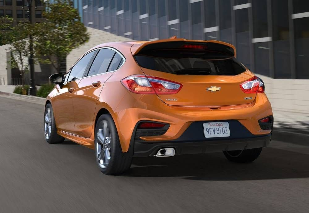 2017 Chevrolet Cruze Hatchback Rear View Taillights And Tailpipe