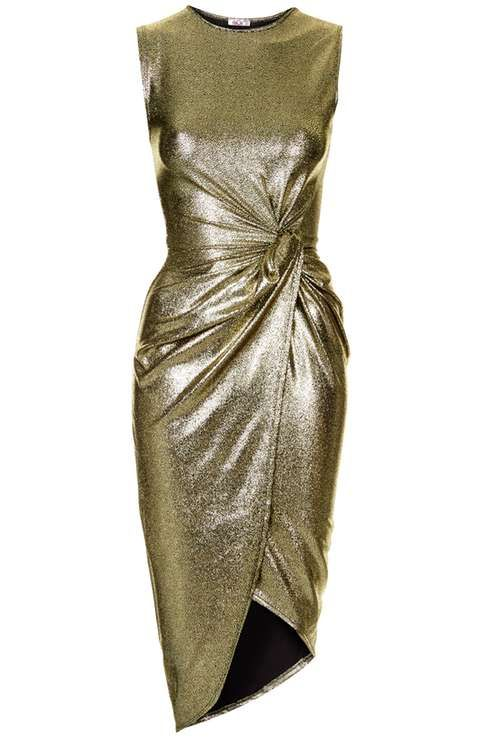 d9b17cfbaea   Metallic Knot Dress by Wal G