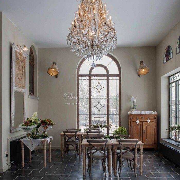 Fresco kalkverf op de wand in de kleur silver plate gepubliceerd in wonen landelijke stijl - Deco keuken kleur ...