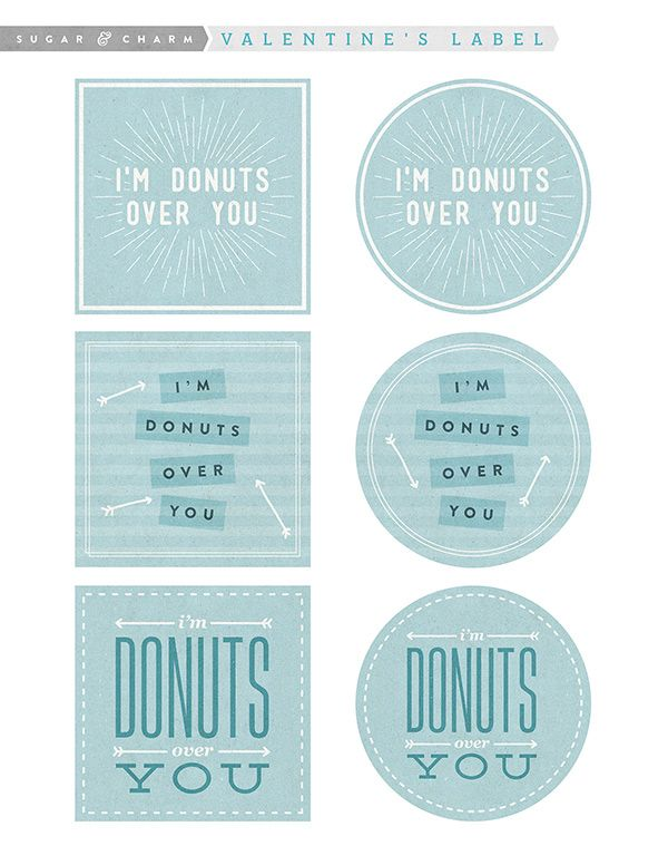 I\'m Donuts Over You - Valentine\'s Day Printable | Donuts, Printable ...