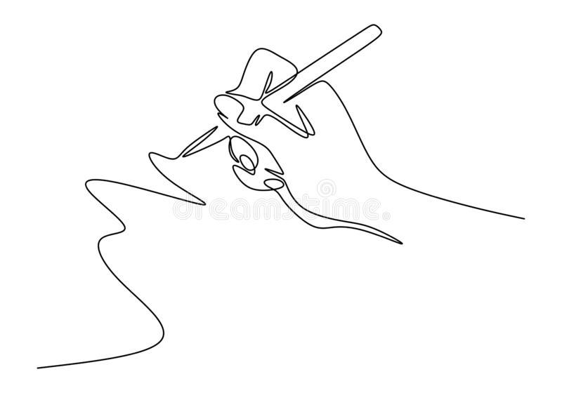 Dibujo Continuo De Una Linea De Estilo Minimalista De Escritura A Mano Dedos Con Lapiz De Tinta O Lapiz Para Dibujar O Line Drawing Line Art Drawings Line Art