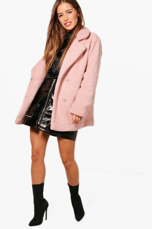 Petite Double Breasted Teddy Coat Boohoo Australia Womens Winter Dresses Coats For Women Womens Fashion Jackets [ 1500 x 1000 Pixel ]