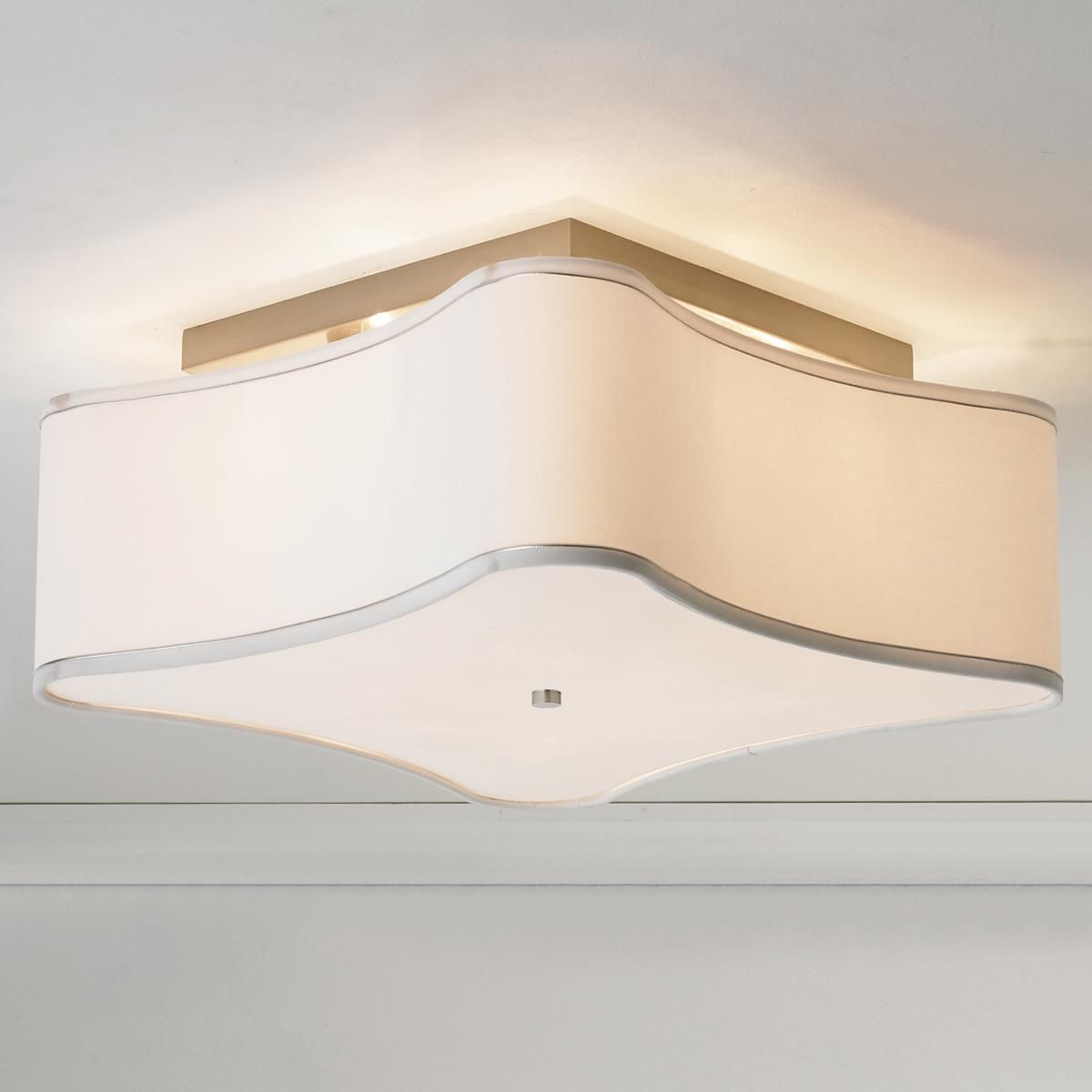 Scalloped shade semi flush ceiling light 4 light ceiling flush soft modern puzzle shade ceiling light silky smooth white fabric forms a puzzle piece shape in this soft modern flush mount ceiling light aloadofball Gallery