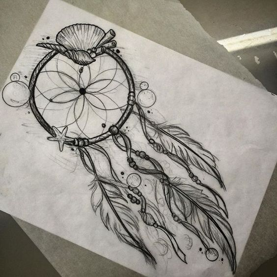 Sea theme dream catcher .. Email me to book tattoosByDenny ...