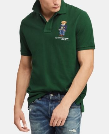 275339c388145b Polo Ralph Lauren Men's Classic Fit Polo Bear Polo, Created for Macy's -  New Forest XXL