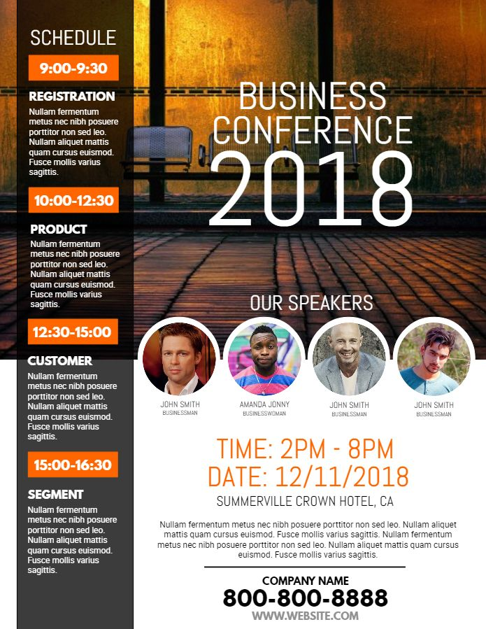 Business conference flyer template design | Corporate Flyer ...