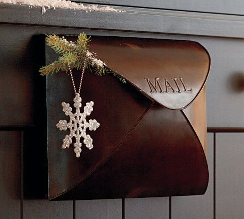 Envelope Mailbox Cool Mailboxes Mailbox Pottery Barn