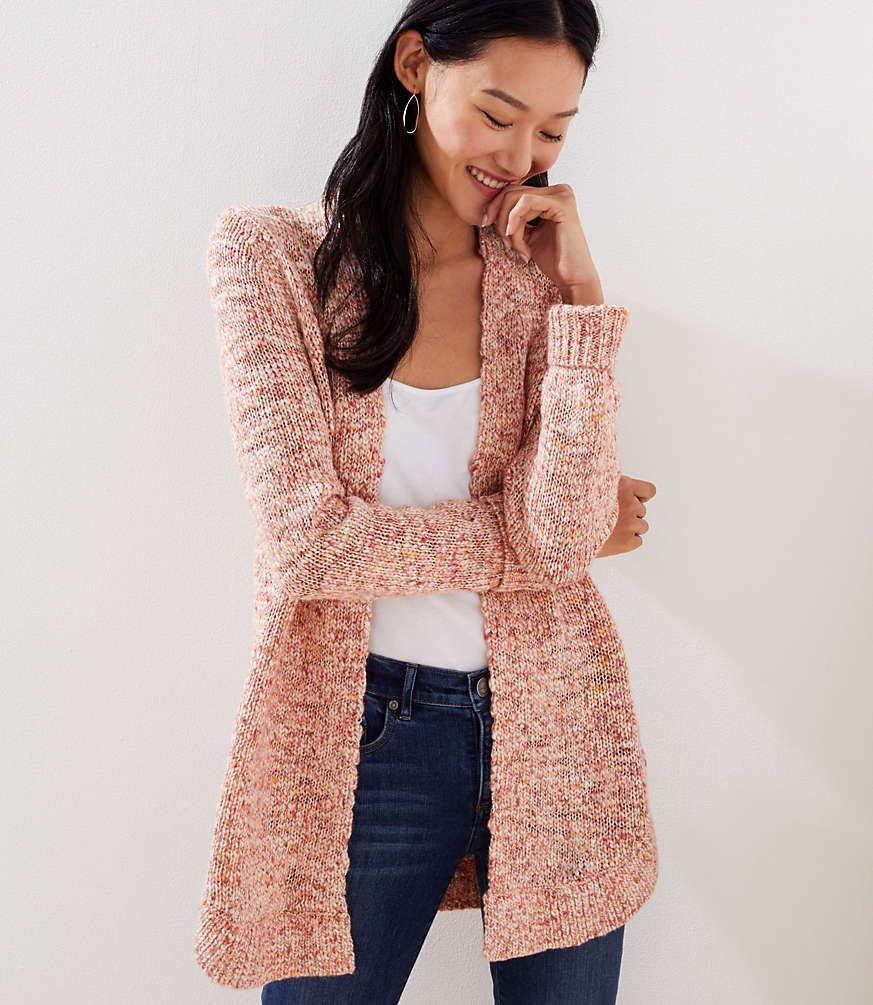 Shop LOFT for stylish women's clothing. You'll love our irresistible Marled Shirttail Open Cardigan - shop LOFT.com today! #loftclothes