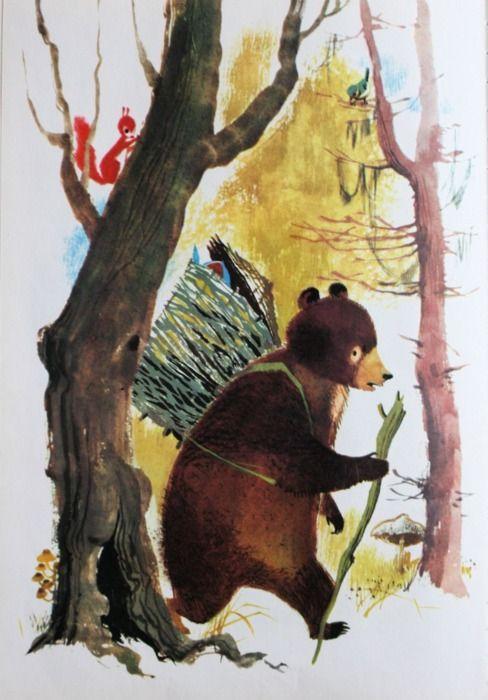 Illustration by Ingeborg Meyer-Rey for Mischka the Bear