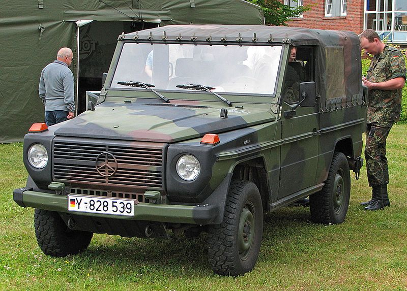 German Army MercedesBenz GClass (with canvas top cover