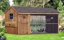 Chicken Duck Coop Plans 6 by 12 Gable A frame Roof Style CG