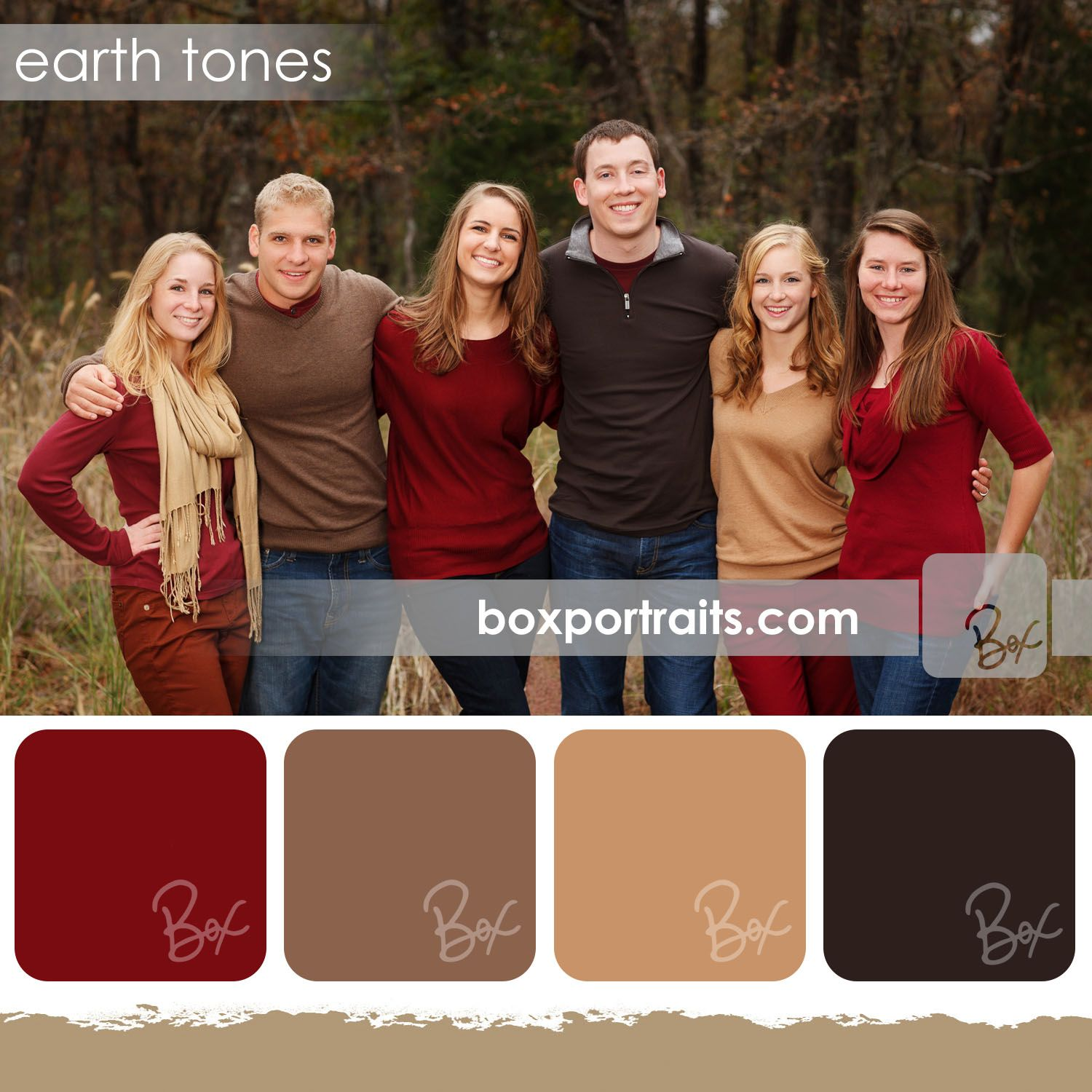 Earth Tones | Family portrait color schemes / ideas | Pinterest