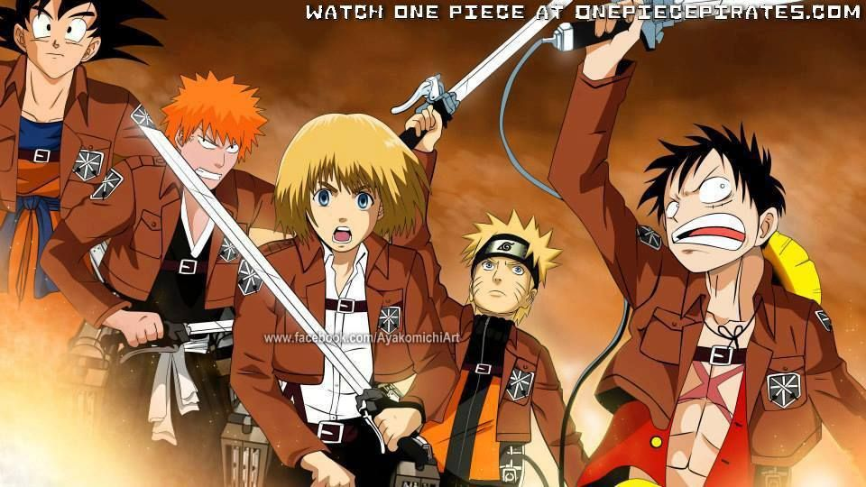 mix manga characters. DBZ,naruto,bleach,one piece