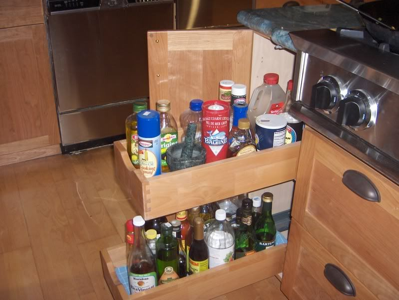cabinets pull out oil and vinegar if you have an oil vinegar pullout kitchens forum on kitchen organization oil and vinegar id=91081