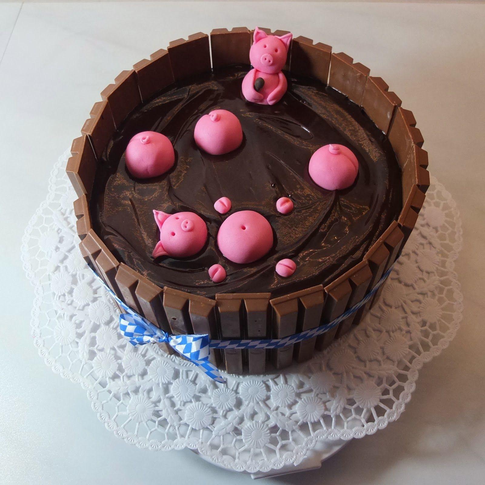 Pâtisserie Nadine: Pigs-in-Paradise-Torte (auch bekannt als Ferkel-im-Matsch-Eimer-Torte)