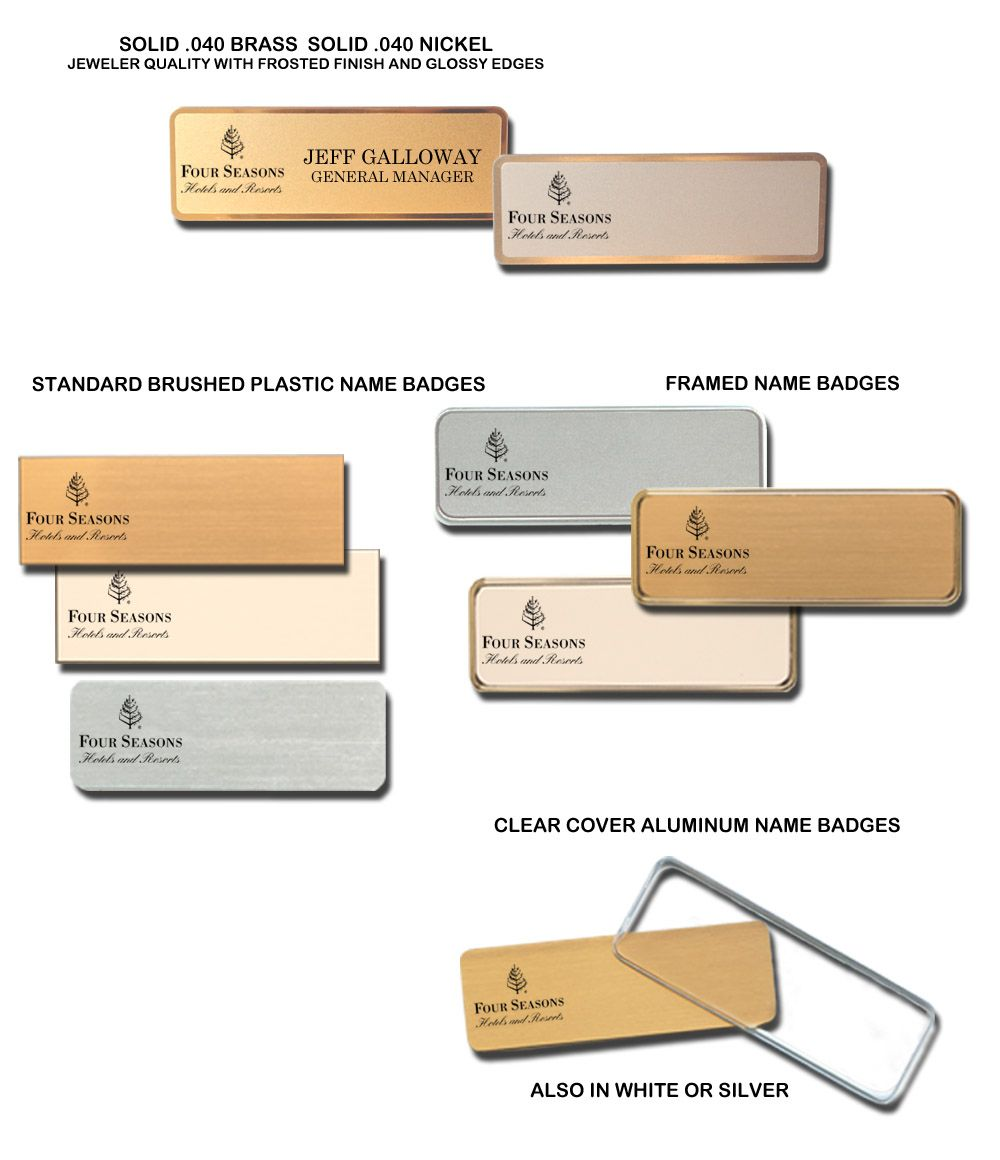 Cleaning Supplies Custom Name Tag Badge ID Pin Magnet for Housekeeping Service