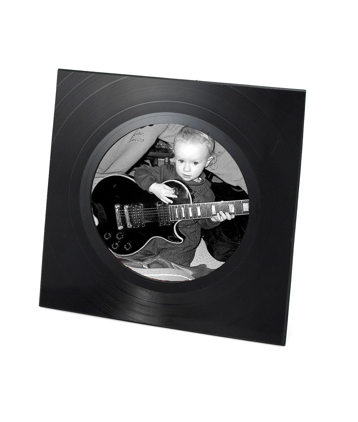 Marco de fotos para los más rockeros | Reciclando Discos, CDs y ...