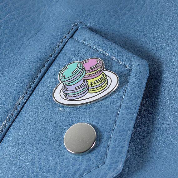 Macaron Enamel Pin // Food pin lapel pin hard enamel by Punkypins