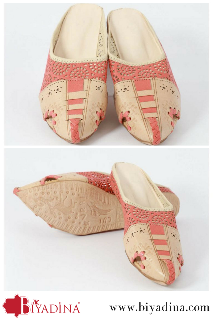 151445632da68 Moroccan #slippers made by #genuine #leather #mixture between #pink ...