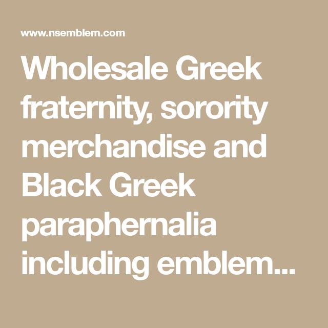 Wholesale Greek fraternity, sorority merchandise and Black