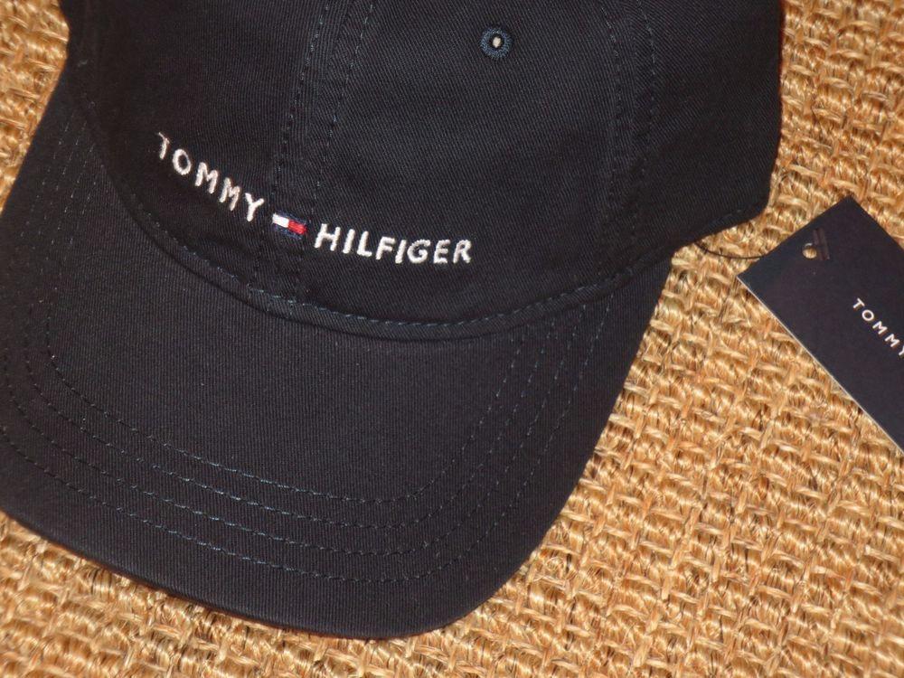 Tommy Hilfiger Mens Logo Baseball Cap Adjustable