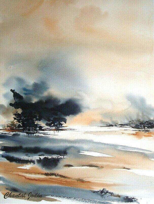 Chantal Jodin Peinture Paysage Aquarelle Abstraite Et Paysage